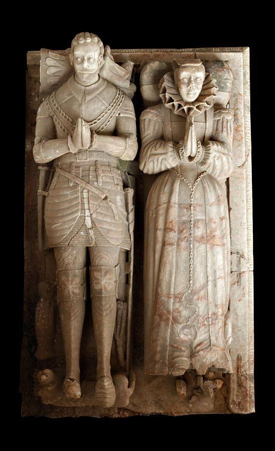 Kenelm Digby (d.1590) and wife, Stoke Dry, Rutland. via @cbnewham