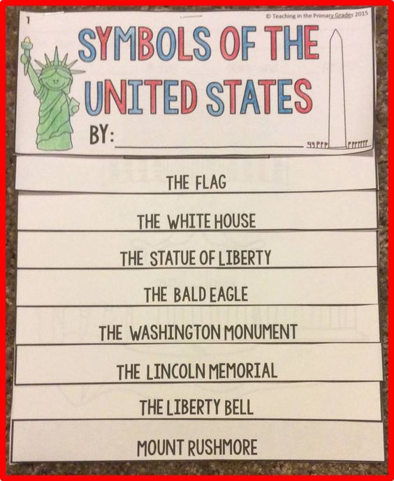 American Symbols flip book- Has fill in the blank facts about each symbol.  I love combing ELA and Social Studies! $