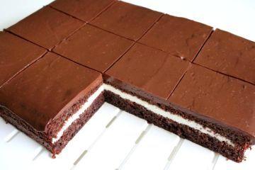 Kakao Schnitten Mit Cremefullung Rezept Mit Bildern Beste Kuchen Rezepte Lebensmittel Essen Kakaokuchen