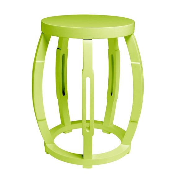 Green Taboret Stool or Side Table  by Bungalow 5