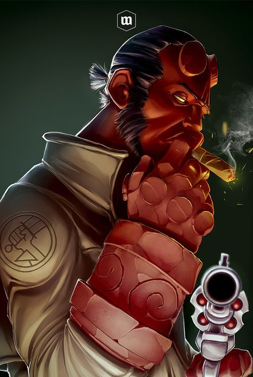 Hellboy is my favorite comic book character. He's the epitome of an anti-hero. I love this artwork of him.