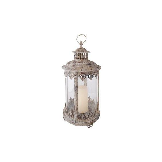 Esscherts Garden Aged Metal Lantern - BrandAlley ❤ liked on Polyvore featuring home, outdoors, outdoor lighting, decor, lanterns, accessories, filler, lamps, outdoor garden lights and garden lanterns