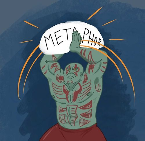 """""""Nothing goes over my head. My reflexes are too fast and i will catch it.""""- Drax"""