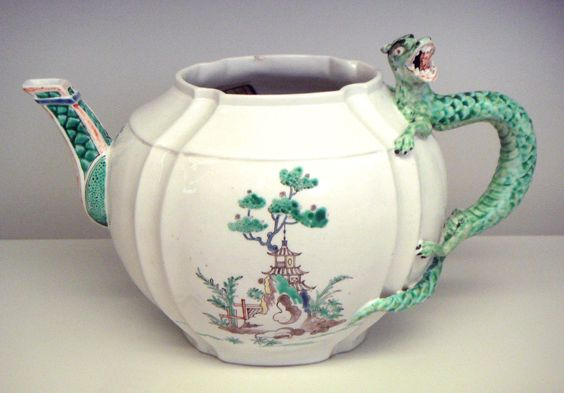 Chantilly sof porcelain teapot 1735 1740