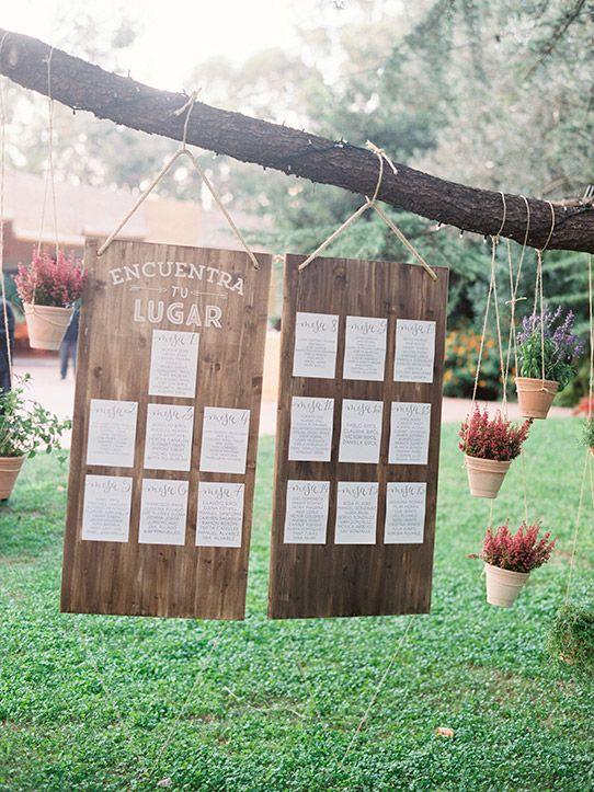 seating plan boda rústica www.bodasdecuento.com:
