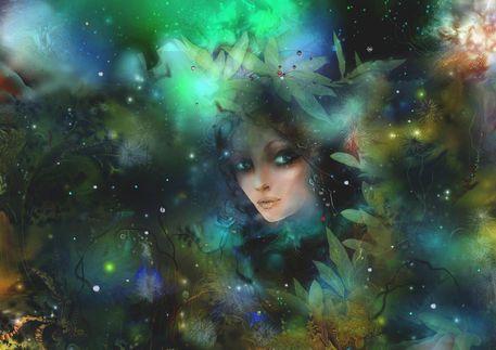 'Enchantress+'+von+Natalia+Rudzina+bei+artflakes.com+als+Poster+oder+Kunstdruck+$15.24
