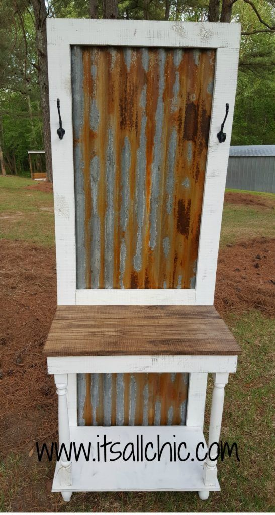 How To Age Galvanized Tin It S All Chic Barn Tin Rustic Tin Corrugated Metal Wall