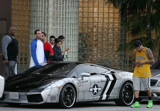 Chris Brown's Lamborghini Gallardo Spyder