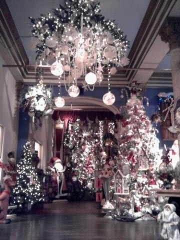 Christmas decoration shopping - love the chandelier. <3 <3 <3