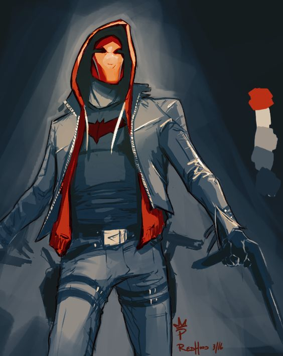 paintedking:   Redhood warm-up painting! - Living life one comic book at a time.