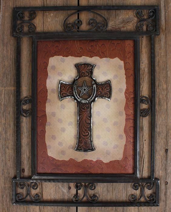 Western moments framed cross wall d cor for Cross wall decor ideas