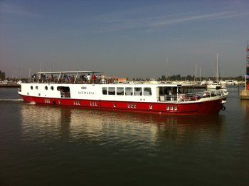 This barge, the Ave Maria, sleeps 40 and is used by the bike tour operator Tripsite.com on their European bike tours.