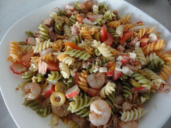 Recetas and pasta on pinterest - Ensalada de arroz con atun ...
