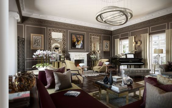 Town house london and interior design on pinterest for High end interior designers london