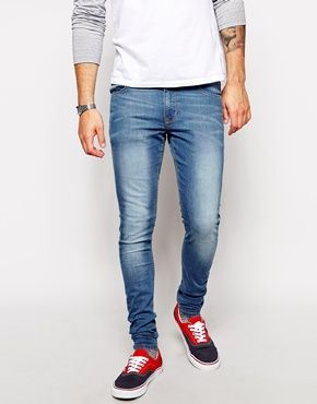 Extreme Super Skinny Jeans In Light Wash | ASOS, Wells and Blazers