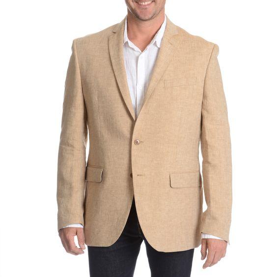 Daniel Hechter Men&39s Tan Linen Sport Coat | Coats Products and
