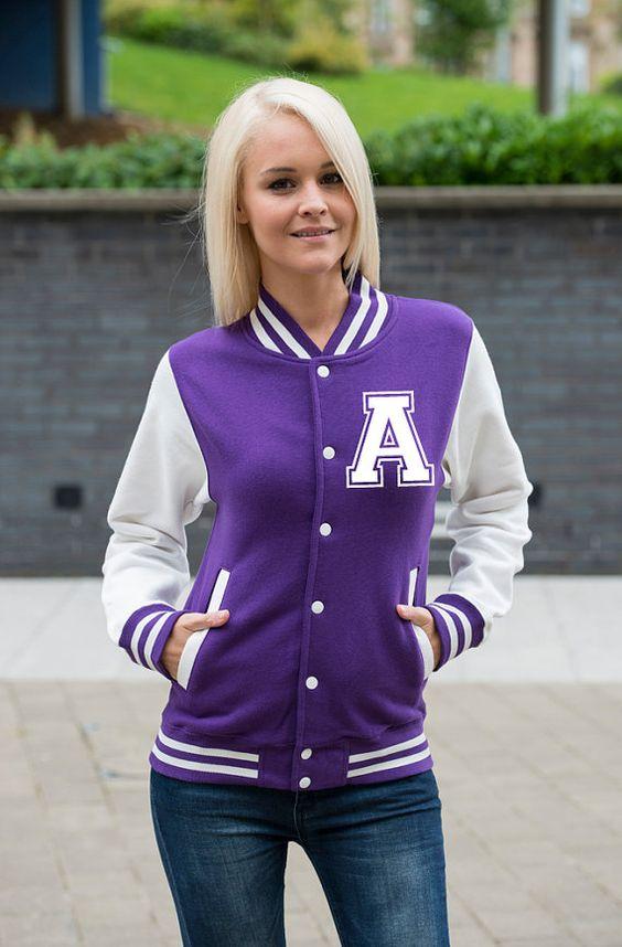 Custom Printed Women's Varsity Jacket - FREE Shipping ...