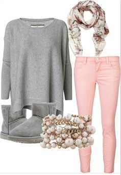 ugg boots outfit with grey short uggs