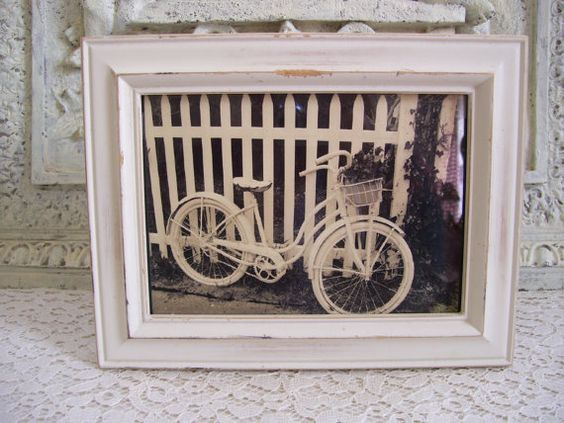 Cottage Chic Vintage Bicycle Photo In A Shabby by cottagetouched, $124.50