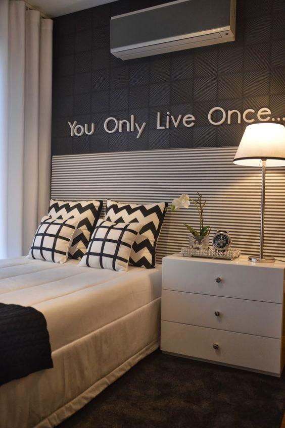 de parede para quarto feminino jovem preto e branco  Pesquisa Google