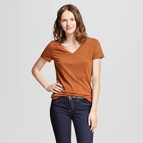 Women's Vee T-Shirt - Mossimo Supply Co.™ (Juniors') : Target - medium