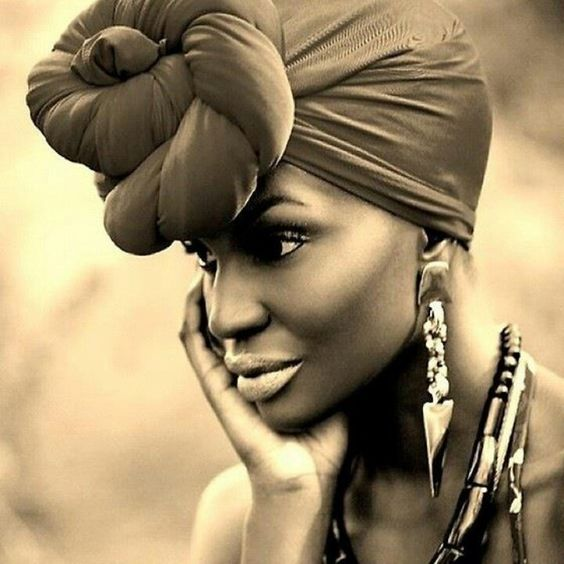 beautiful and full front pulled turban