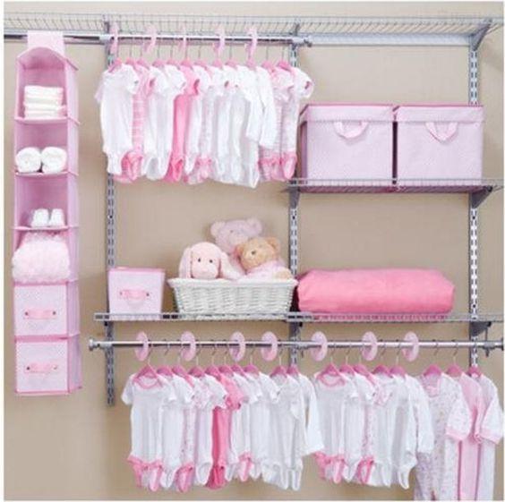 Baby Closet Organizer Systems Kids Children Nursery Storage Set Delta Pink # Delta