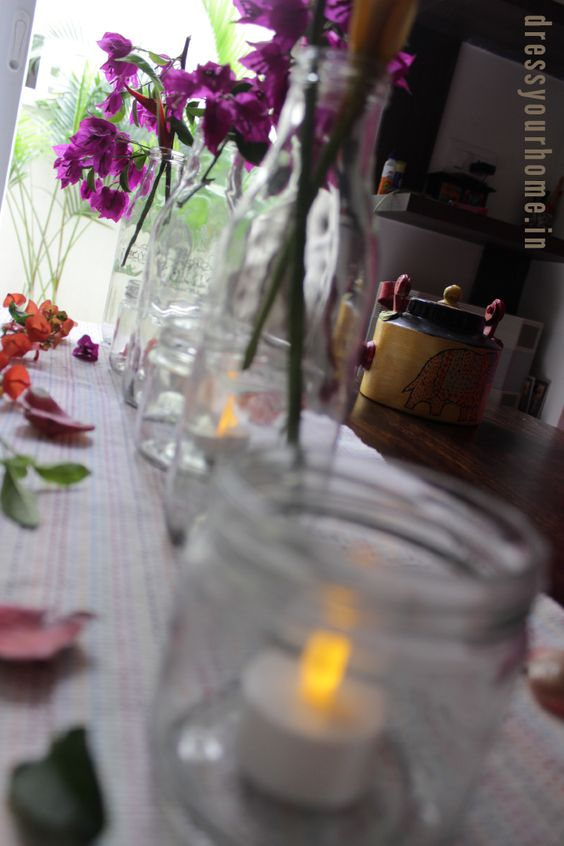 fresh flowers and candles