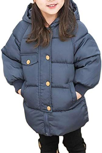 Jessica Simpson Girls Quilted Cozy Trimmed Hooded Jacket Coat