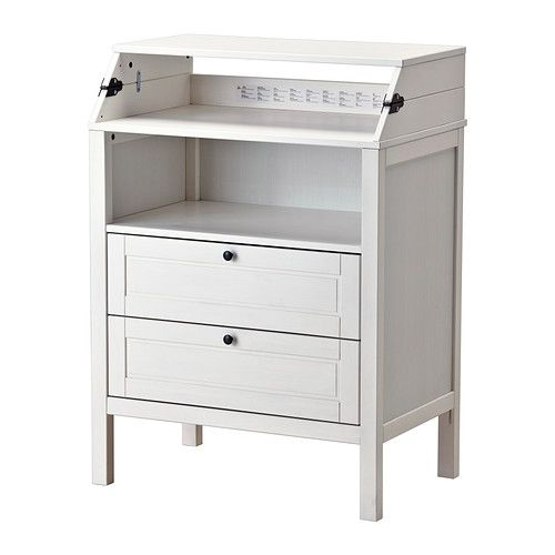 Sundvik table langer commode blanc toilettes tables et tables langer - Table a langer petit espace ...
