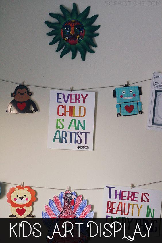 Kids Hanging Art Display Wall / Sophistishe.com