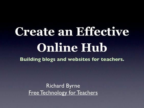 creating-an-effective-online-hub by Richard Byrne via Slideshare