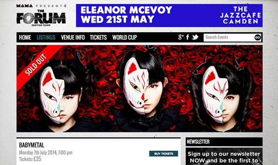 BABYMETAL Sell Out Twice In UK