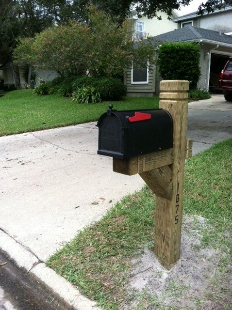 Mailbox post posts and 4x4 on pinterest for Mailbox ideas