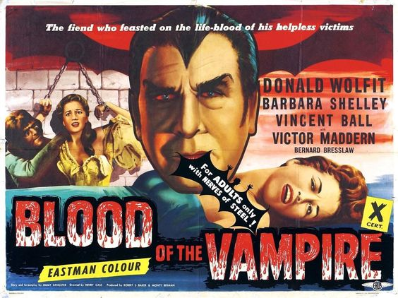 BLOOD OF THE VAMPIRE Movie Poster Horror Dracula