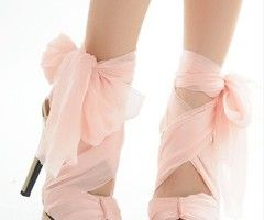 cute light pink heels with bow | Cocktail Dresses | Pinterest ...