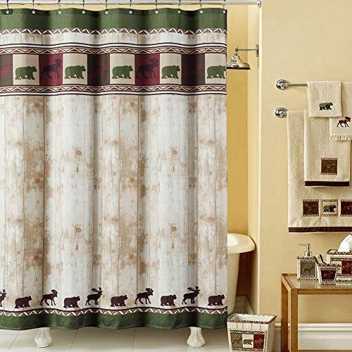 Ds Bath S Woodland Vintage Bear And Moose Shower Curtain Shower