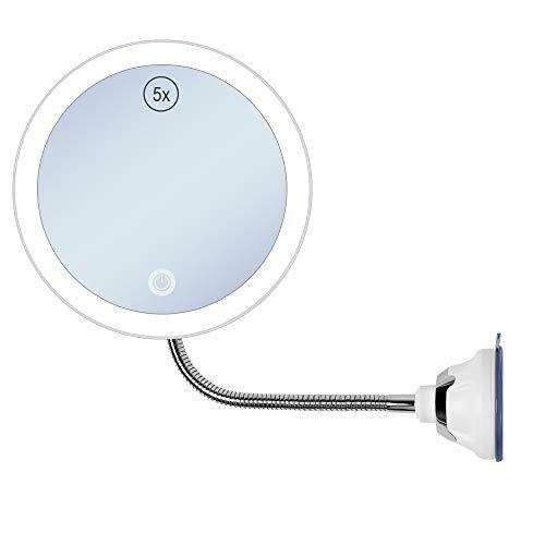 Gecoun Led 5x Magnifying Makeup Mirror With Light Bathroom Lighted