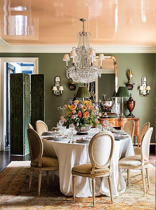 Tour A Home Teeming With Sumptuous Southern Style Home Dining Room Decor Interior