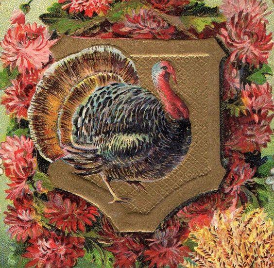 Beautiful Antique Victorian Thanksgiving by VintagenutsInc on Etsy, $8.50