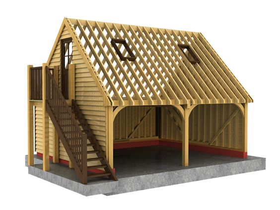 Traditional garage and building on pinterest for 2 bay garage kit