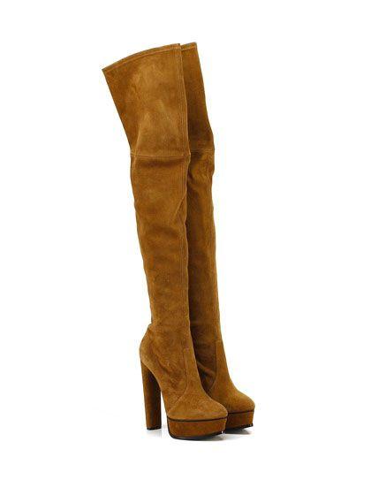 CASADEI - Stivali - Donna - Stivale in camoscio stretch con suola in cuoio…
