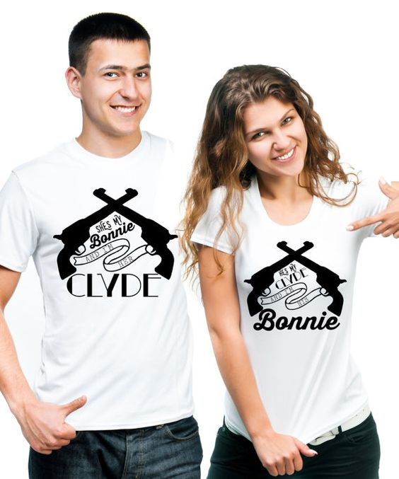 bonnie and clyde shirts couple tshirts trendy best. Black Bedroom Furniture Sets. Home Design Ideas