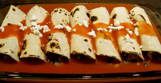 roasted zucchini, black bean and goat cheese enchiladas | Foody ...