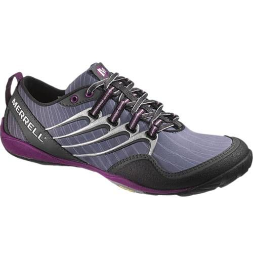 """Barefoot"" waterproof trail running shoes. With Purple soles. I <3 Merrells"