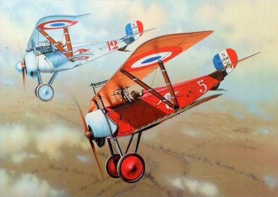 Nieuport 11 & 17 Escadrille N.3 'Cicognes', by Martin Novotny: