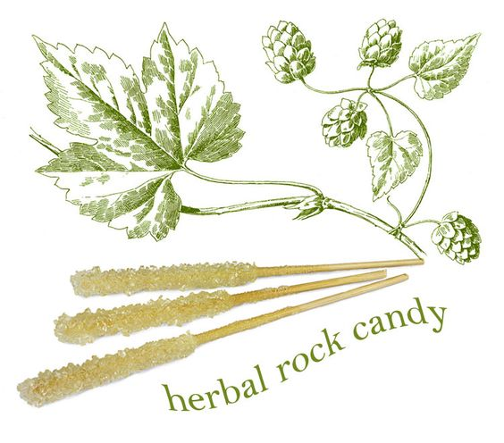 Herbal hops rock candy recipe