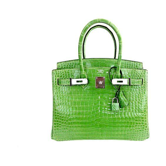 knock off croc brands - Hermes Birkin Bag 30cm New Color Menthe Mint Crocodile Porosus ...