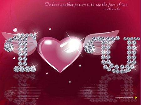 i love you heart glitter - photo #41