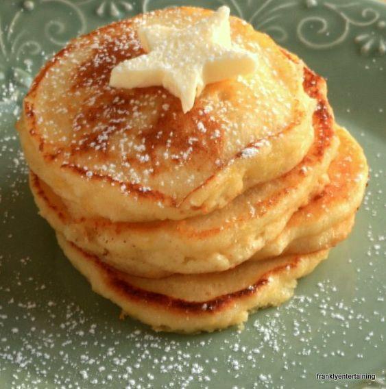 Lemon ricotta pancakes: these came out great. I used half the lemon zest and they were plenty lemony.